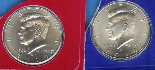 2010 P/&D Kennedy Half Dolllars From SATIN Mint Set