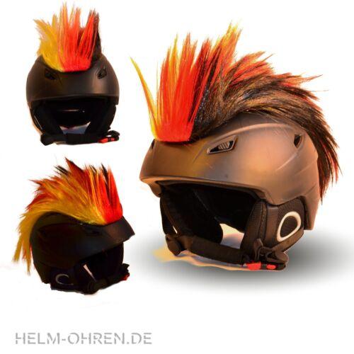 Motorradhelm Radhelm Deutschland Fan WM Helmirokese Iro// Irokese// Helmaufsatz f