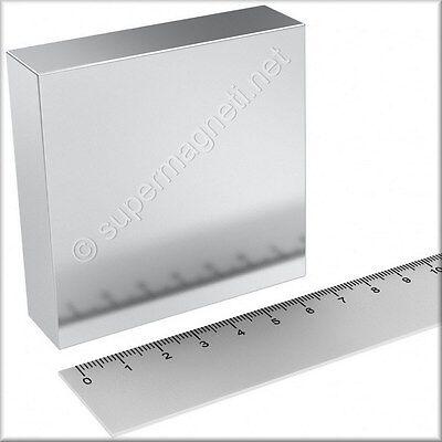 Super Magnete Solido in Neodimio 70x70x20 mm Potenza 350 Kg N52 Acqua Magnetica