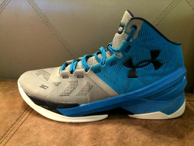the best attitude 04685 fe556 Under Armour Curry 2 Steel/Electric Blue-Midnight Navy 1259007-036 Men's Sz  12