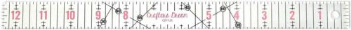 """Crafters Dream Transparent Quilting /& Patchwork Ruler Template 1/"""" x 12.5/"""" CD1125"""