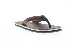 Tommy-Bahama-Khenan-TB9M00223-Mens-Brown-Leather-Flip-Flops-Sandals-Shoes