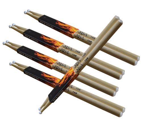 Trommelstöcke,5-Paar,Gr-7A-Nylon-Kopf-MSA !n Drum-Sticks//Schlagzeug-
