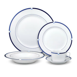 Image is loading Mikasa-Jet-Set-Blue-40-Piece-Dinnerware-Set  sc 1 st  eBay : mikasa plate set - pezcame.com