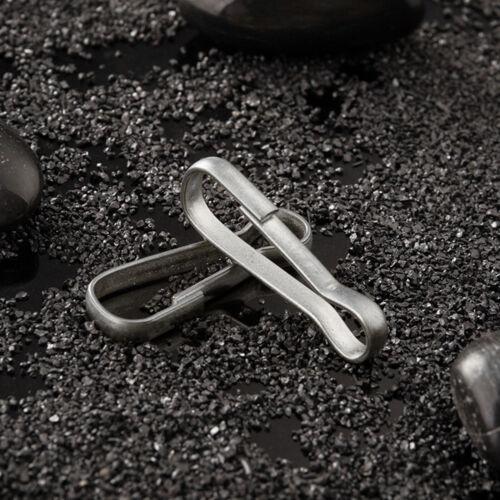 100*Carabiner Spring Snap Hook Loop Clip Stainless Steel Keychain Buckles 8 Size