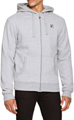 Sudadera Zip Cotton Tommaso Mens Mid Up Top Fila Hoodie capucha Grey con qOg7Rn