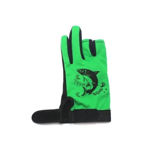 Hunting Fishing Gloves Men 3 Cut Finger Skidproof Resistant Outdoor Anti Slip