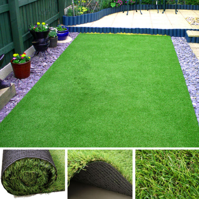 3 X6 Turf Synthetic Grass Fake Artificial Lawn Indoor Outdoor Mat 1 3 8 Height For Sale Online Ebay
