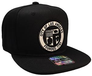 City Of Los Angeles Founded 1781 Hat Black Snapback Adjustable