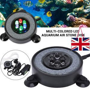 Aquarium-Bubble-LED-Light-Air-Stone-Curtain-Lamp-Fish-Tank-Lights-Disk-6-Color
