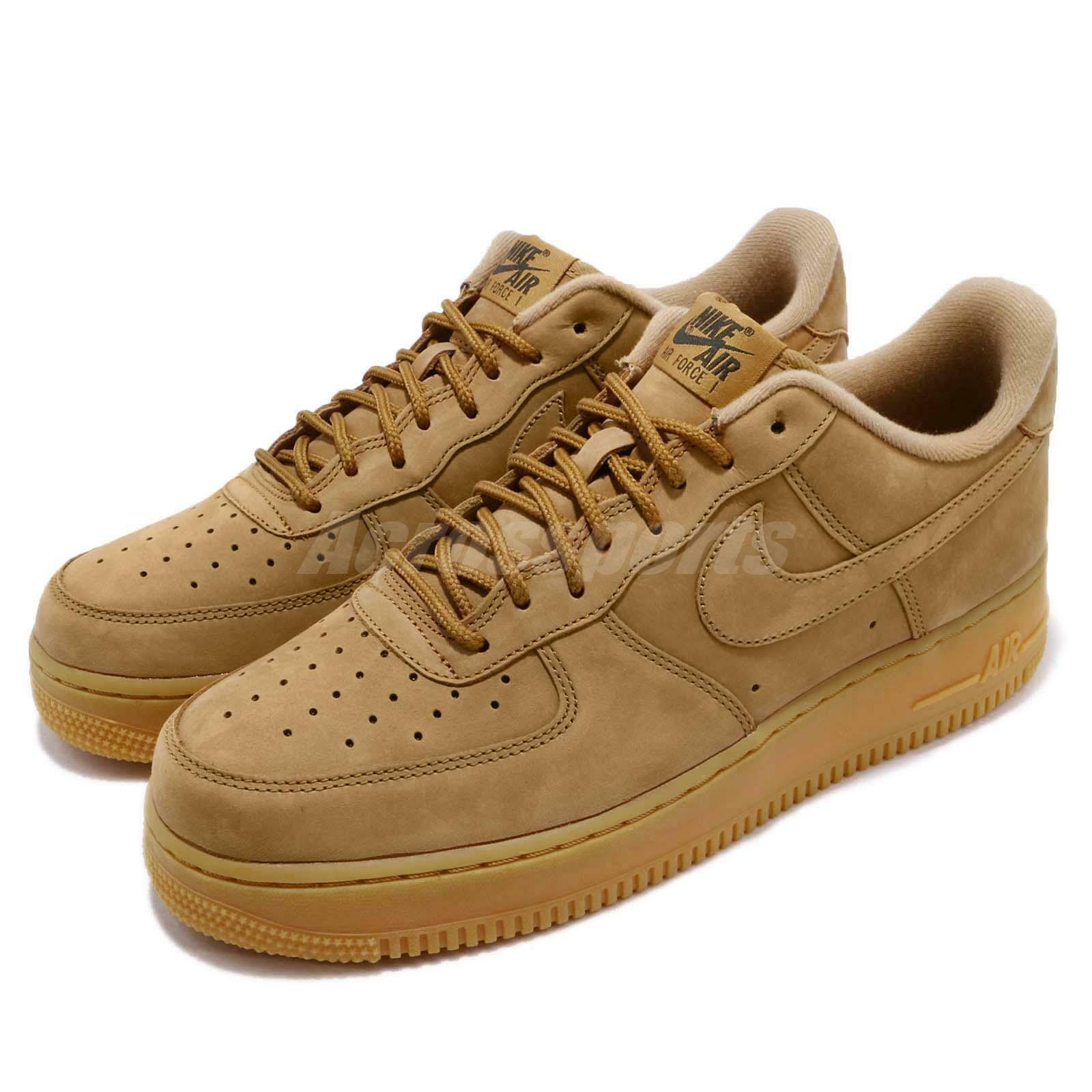 Nike Air Force 1 07 WB Flax Wheat Marron Mens Chaussures Baskets AF1 AA4061-200