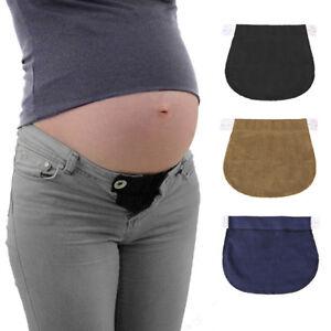 2PCS-Maternity-Pregnancy-Waistband-Belt-Adjustable-Jean-Waist-Pants-Extender-AU