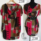 AU SELLER BOHO Tunic Kaftan Loose Long Top/ Bikini Cover Up SZ S-XL/AU8-16 T009