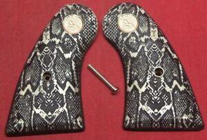 Colt Firearms Python / Officers Model Snake Skin Pattern Grips