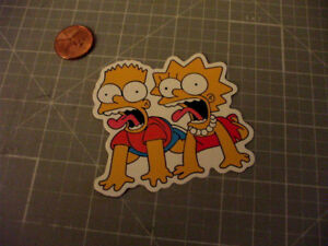BART-AND-LISA-GLOSSY-Sticker-Decal-NEW