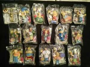Complete Set Of The 16 The Simpsons Movie Burger King Toys 2007 Ebay