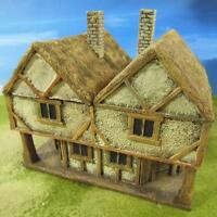 28mm Pmc Games Me21bp (painted) Two Storey Inn Thatched Roof - Medieval