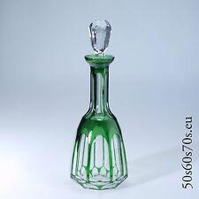Glas Karaffe Nachtmann Antika smaraktgrüner Überfang H=29 cm #491