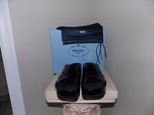 Women-039-s-NIB-Black-PRADA-Calzature-Donna-Sandals-Size-39-5-9-5