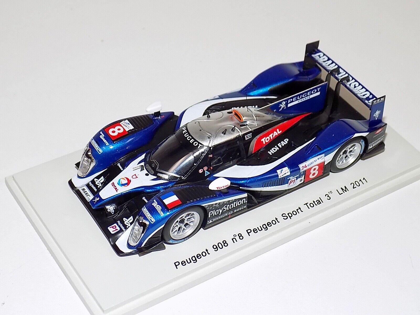1 43 Spark Peugeot 908 coche rd lugar 2011 24 horas de Le Mans S2593