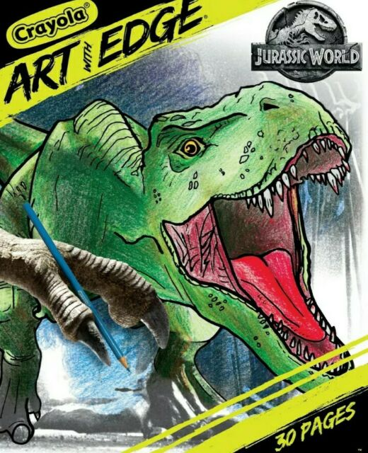 Crayola Art With Edge Jurassic World Dinosaurs🦖 30 Pages Coloring Book  8x10 For Sale Online EBay