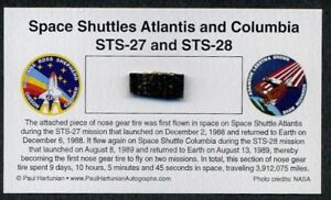 Space-Shuttle-Nose-Gear-Tire-Flown-on-TWO-Missions-Atlantis-amp-Columbia