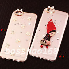 Bling Clear handmade Diamonds Crystal TPU Soft Back Case Cover Skin For MOTO 1