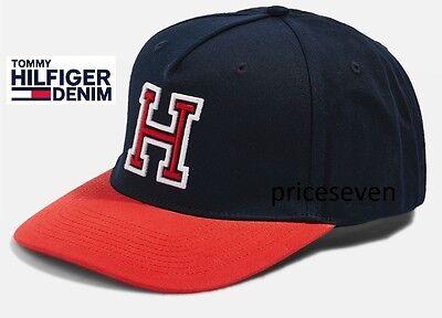 Amichevole Tommy Hilfiger Logo Navy Blu/rosso Cappellino Unisex * Nuovo-mostra Il Titolo Originale Così Efficacemente Come Una Fata