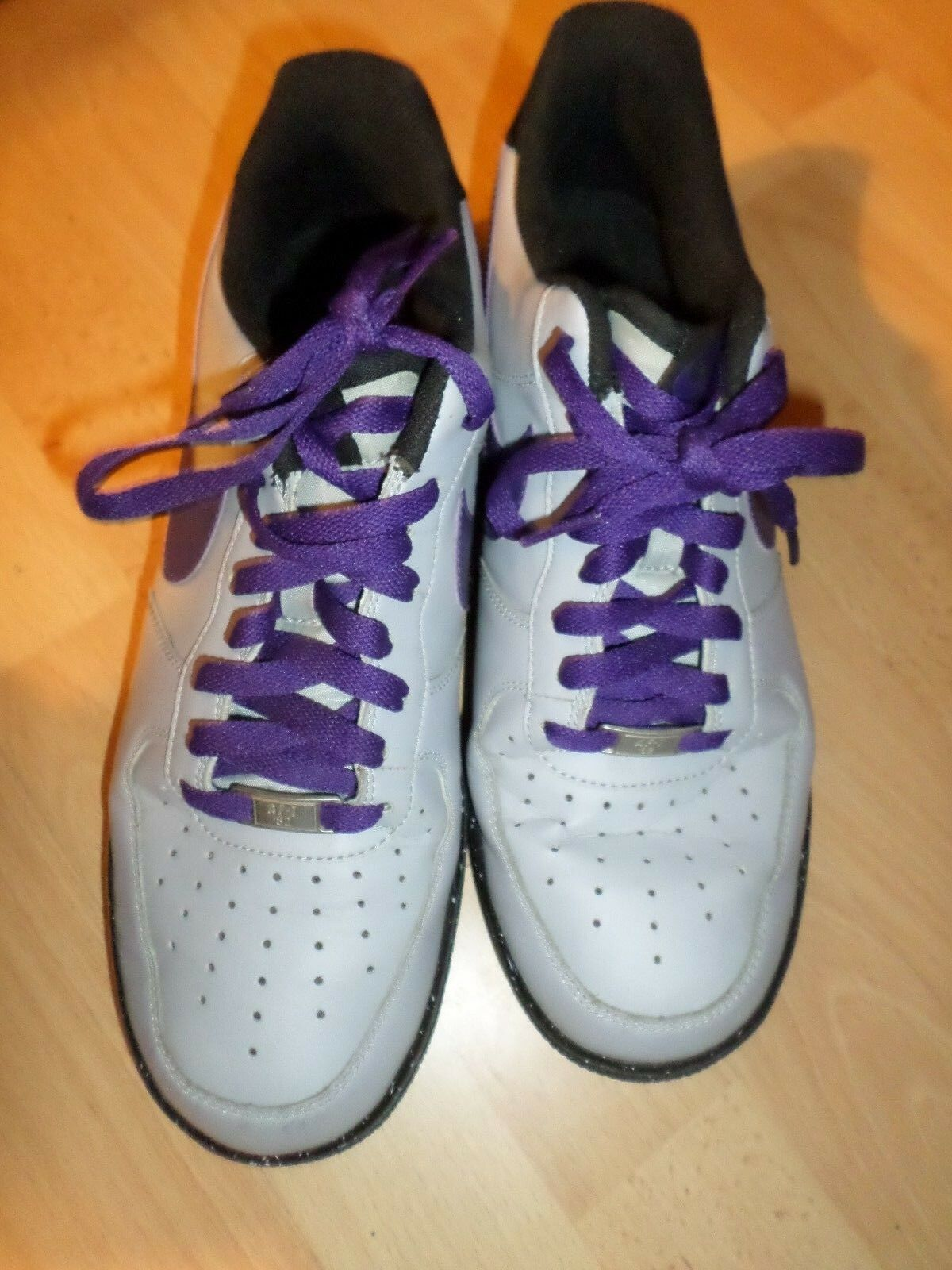 The most popular shoes for men and women Nike Air Force 1 AF1 Low WOLF GREY/Court Purple Price reductionSz 10*