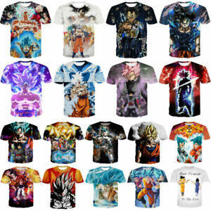 New-Women-Men-Dragon-Ball-Z-Vegeta-Goku-Super-Saiyan-Print-Casual-3D-T-Shirt-Tee