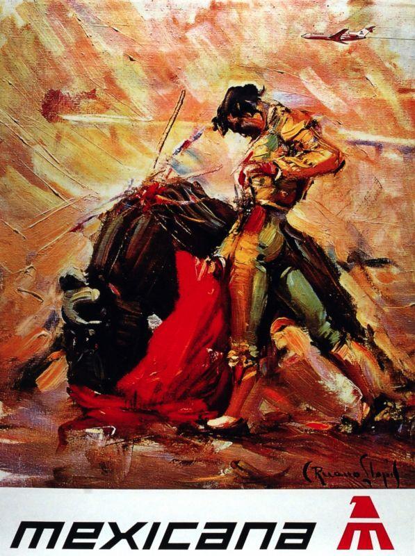 Vintage Travel POSTER.Torero.Matador Bullfighter.wall House Interior design.1389