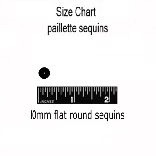 10mm Flat SEQUIN Loose PAILLETTES ~ FUCHSIA PINK Metallic ~ Round Disc ~