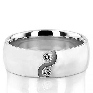 Real-0-06-Ct-Natural-Diamond-Mens-Wedding-Ring-14K-White-Gold-Mens-Size-R-456789