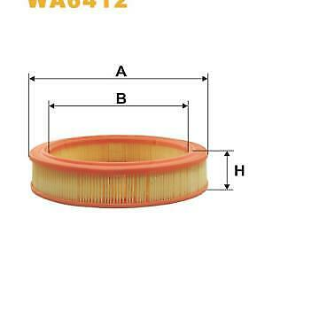 Filtro de aire WIX PC268|PC804|1444N3|4321698|4321699|5889202|