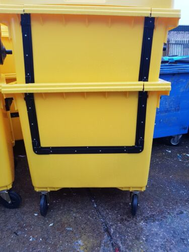 1100ltr wheelie bins Recyling//Storage Container with Drop down door.