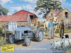 METAL-FORD-FERGUSON-9N-WALL-TIN-SIGN-PLAQUE-GARAGE-SHED-TRACTOR-GIFT-FARMING