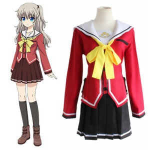 100% Quality Charlotte Tomori Nao Sailor Suit School Uniform Dress Outfit Cosplay Costumes Anime Costumes Women's Costumes