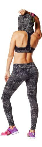 ZUMBA  FITNESS 2 PIECE SET Tri-Me LEGGINGS /& Oh my Hoodness BRA TOP Yoga RARE!!
