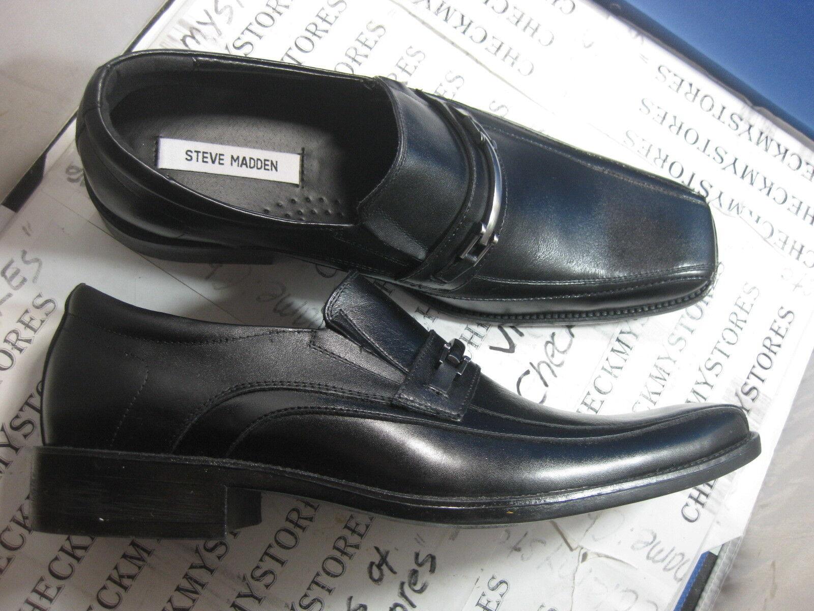 NIB Steve Madden P-KRUZ   hommes LOAFER SLIP-ON  noir DESIGNER chaussures