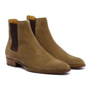 349d4f9fa72 Saint Laurent Hedi Brown (Tan) Suede Chelsea Boots Size 43EU/10US ...