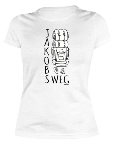 Damen T-Shirt Pilgern Wandern Pilger Pilgerurlaub Damenshirt Jakobsweg Trägertop Bekleidung Weitere Sportarten