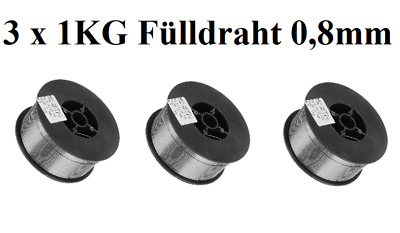 1KG Fülldraht 0,8mm SCHWEIßDRAHT MIG//MAG 1 Rolle ohne Gas E71T-GS  FLUX CORE 0,8