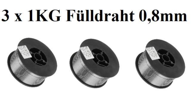 ohne Gas E71T-GS FLUX CORE 1KG Fülldraht 0,8mm SCHWEIßDRAHT MIG MAG 1 Rolle