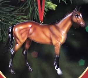 A8-Breyer-Horse-Beautiful-Breed-Thoroughbred-Ornament-Bay-Stallion-Resin-Holiday