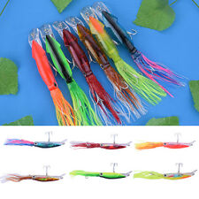 1PCS Soft Lures Octopus Squid Jig Hooks Shrimp Catch Fishing Tackle Crank Tool
