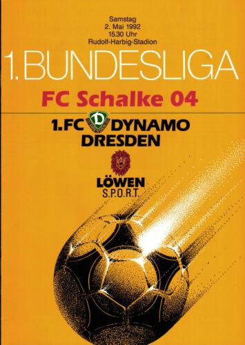 02.05.1992 FC Schalke 04 BL 91/92 Dynamo Dresden