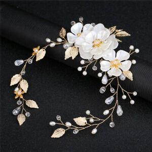 Leaf-Handmade-Tiara-Jewelry-Headdress-Headpiece-Pearl-Headband-Bridal-Hairpin