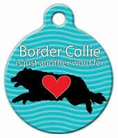 Border Collie Love - Custom Personalized Pet Id Tag For Dog And Cat Collars