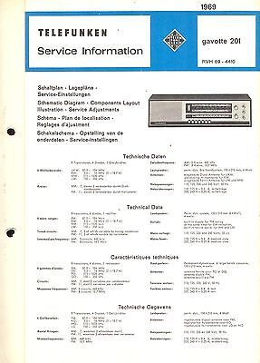 Telefunken Service Manual für Gavotte 201  Copy