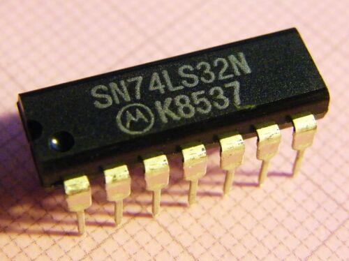 10x SN74LS32N Quad 2-input OR-Gate Motorola